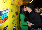 Camila Alves and Matthew McConaughey kissed at the March 2012 South by Southwest Film Festival in Austin.