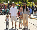 Matthew McConaughey and Camila Alves took their kids, Levi and Vida, to Disneyland in June 2011.