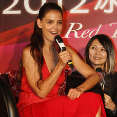 Katie Holmes Dresses on Katie Holmes Red Dress Pictures In Taiwan
