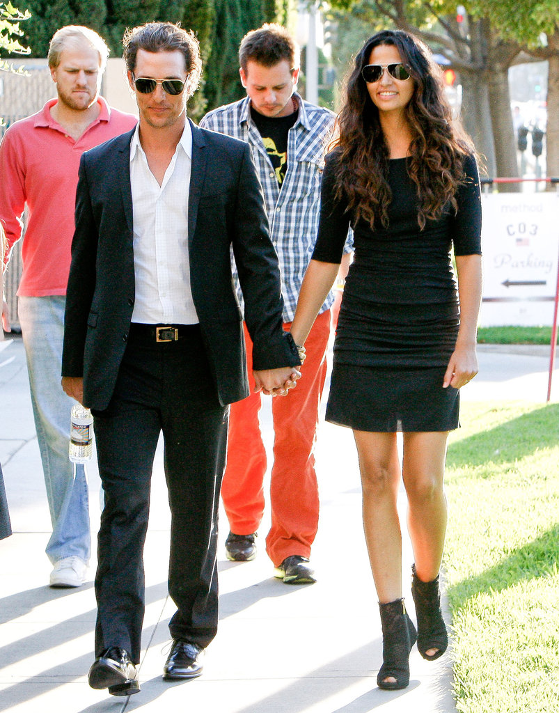 Matthew McConaughey and Camila Alves got cute for an LA outing in November 2011.