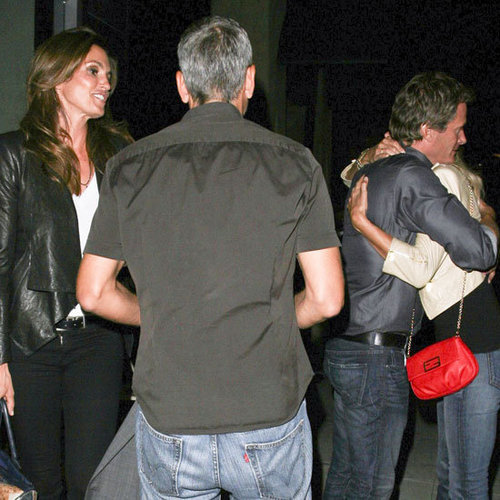 George Clooney Stacy Keibler Pictures With Crawford Gerber