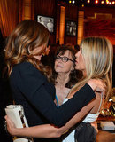 Jennifer Aniston chatted with Julia Roberts and Sally Field at an AFI gala.