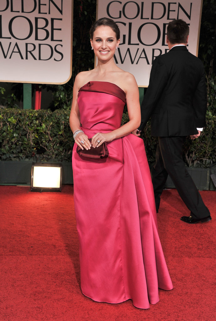Natalie Portman in Fuchsia Lanvin Gown at the 2012 Golden Globes