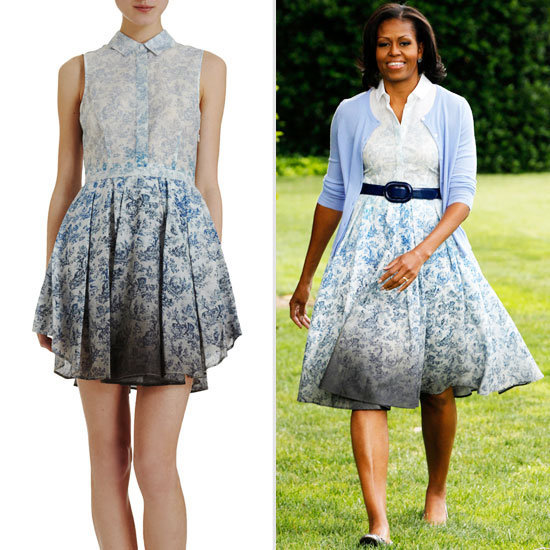 Get the look: Michelle Obama's supercool Band of Outsiders printed dress could be yours.