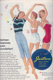 """""""Jantzen improves your circulation!"""" So that you can dance around in a circle with your friends in your underwear."""