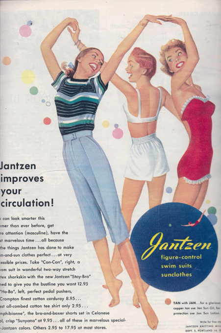 """Jantzen improves your circulation!"" So that you can dance around in a circle with your fr"