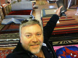 Kyle Sandilands went rug shopping. Source: Twitter user kyleandjackieo