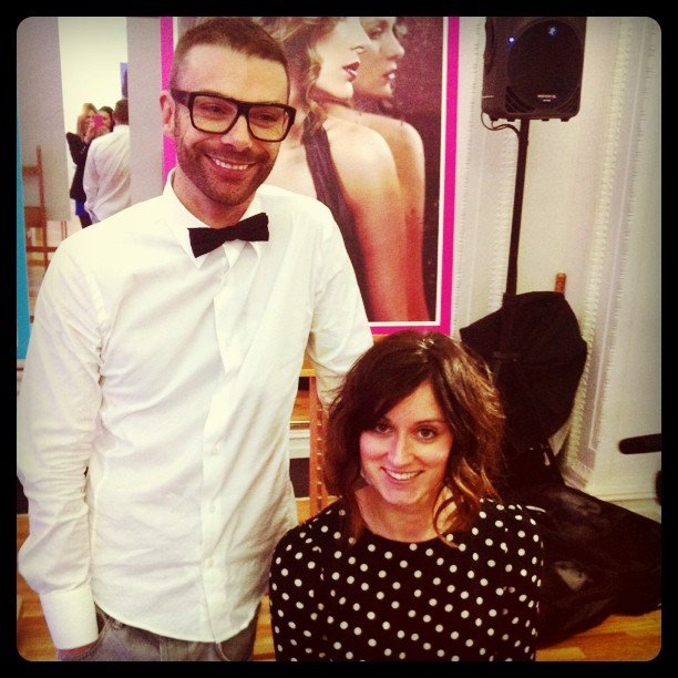 Darren Borthwick styled Sarah's hair into a faux bob at the Sunsilk launch.
