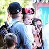 Harper Beckham Pictures Wearing Minnie Mouse Ears at Disneyland