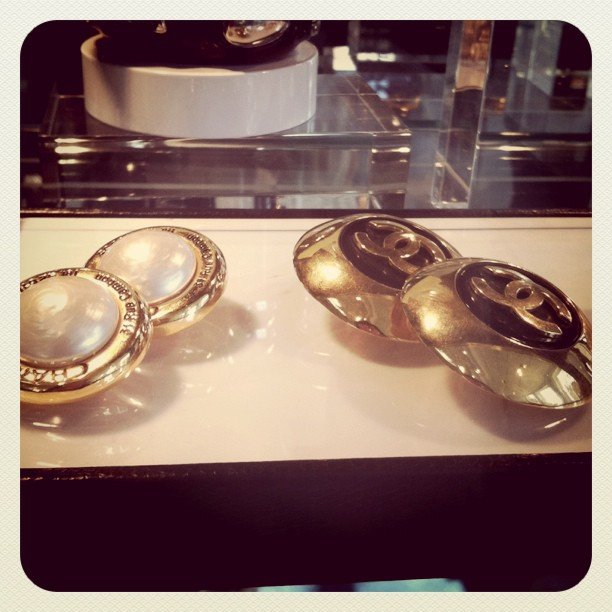 Vintage Chanel earrings at the Napoleon Perdis Life.Style store.