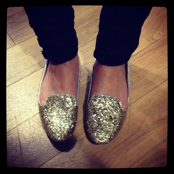 Pop ed Jess lit-up the office with her Seed glitter loafers.