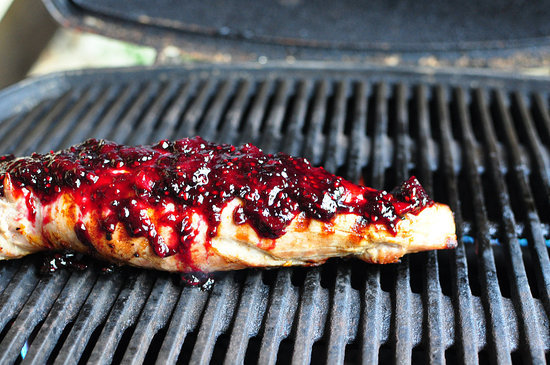 Blackberry Jalapeño-Glazed Pork Tenderloin