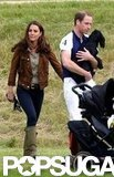 Kate Middleton and Prince William attended a charity polo match.