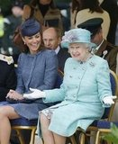 Kate Middleton and the Queen had a joke while watching a children's event for the Diamond Jubilee celebrations on June 13.