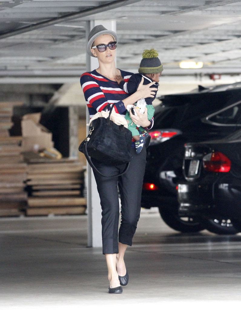 Charlize Theron and Jackson ran some errands in Beverly Hills.