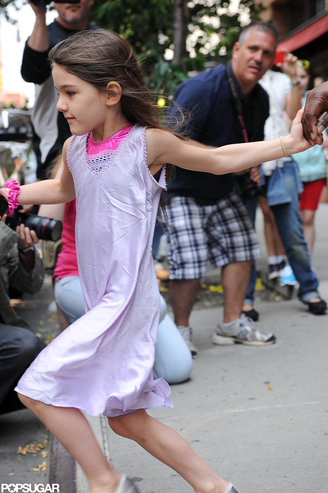 Suri Cruise was moving fast in NYC.