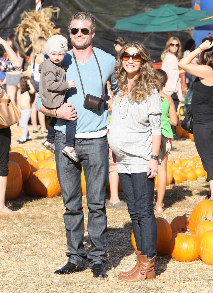 Eric Dane, Rebecca Gayheart, and daughter Billie hit a pumpkin patch in LA as a family in October 2011.