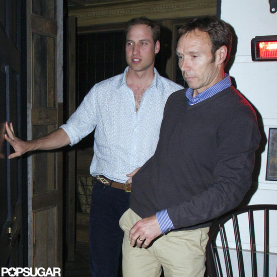 Prince William stepped out of the night club after having a guy's night.