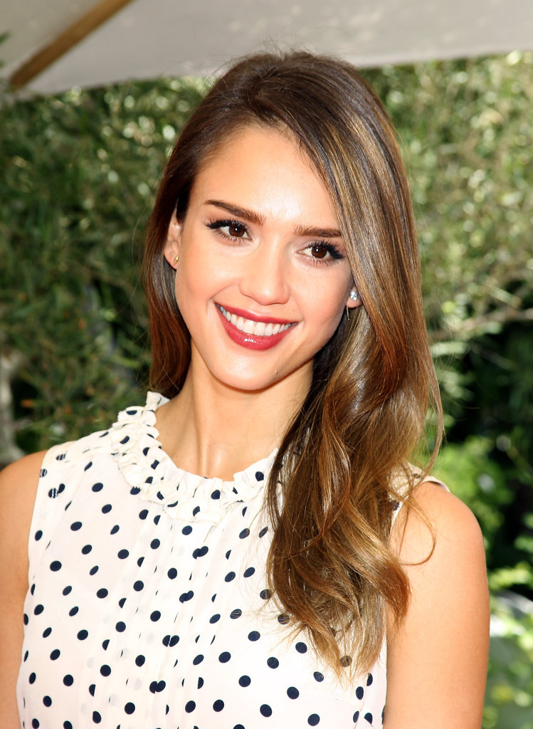 Jessica Alba looked gorgeous at the Premiere Luxury Baby and Toddler Show.