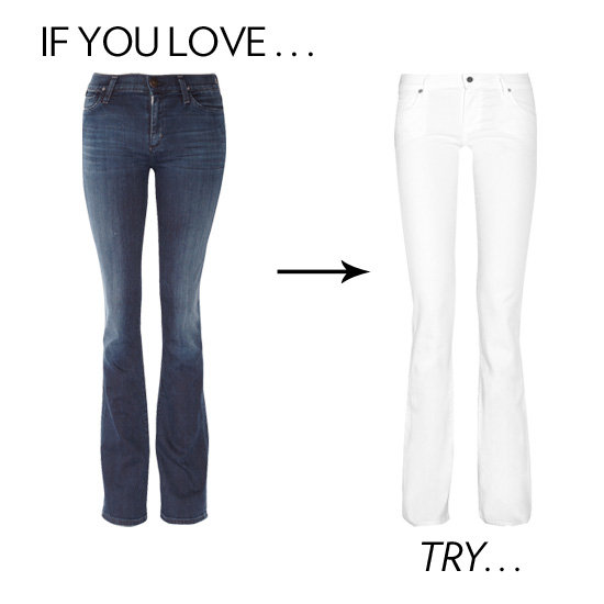 The White Flared Jeans