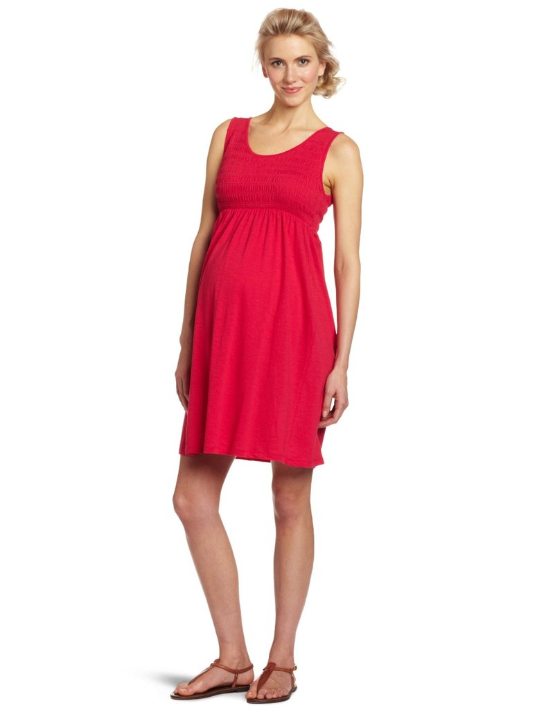 Three Seasons Smocked Solid Dress ($40)