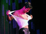 Jeff Timmons of '90s boy band 98 Degrees ripped his shirt off when he performed a Chippendales show in Vegas last year.