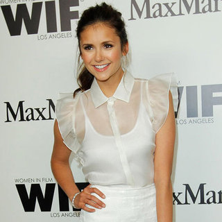 Nina Dobrev and Chloe Moretz Pictures at Max Mara Cocktail Party