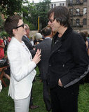 Anne Hathaway and Jim Carrey got together at the Stella McCartney presentation in NYC.