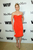 Jennifer Morrison stood out in an orange dress.