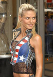Heidi Klum made stars and stripes sexy at an NYC photo shoot in July 2003.