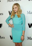 Chloe Moretz looked gorgeous in a blue dress.