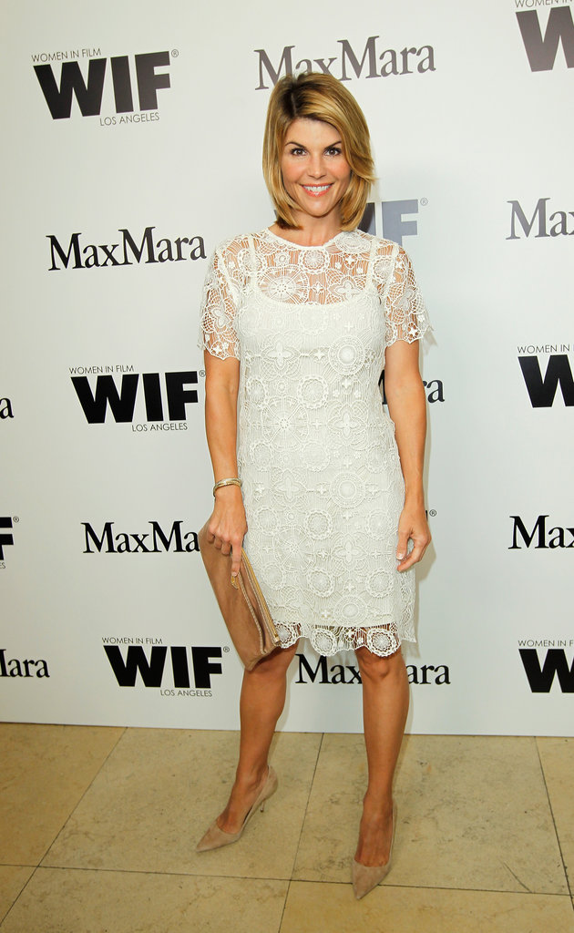 Lori Loughlin came out to celebrate Women in Film and Max Mara's Face of the Future in West Hollywood.