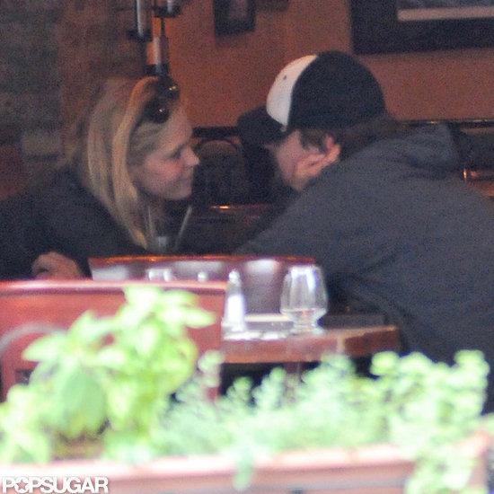 Leonardo DiCaprio and Erin Heatherton got close over lunch at NYC restaurant Candela Candela.
