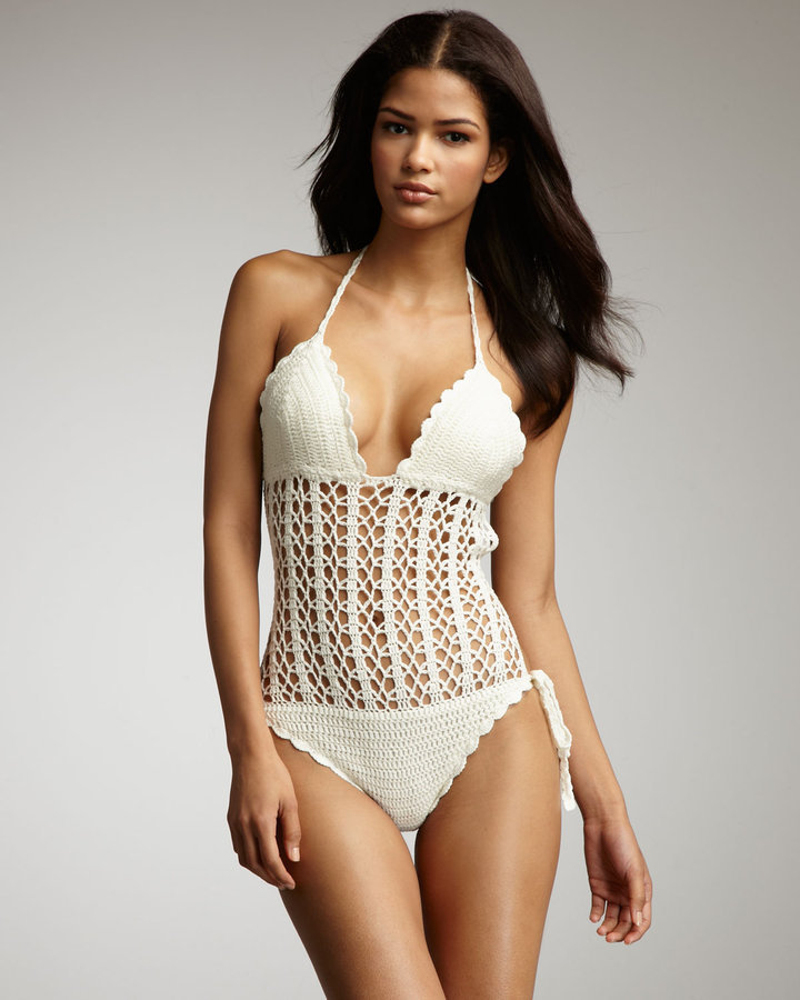 This monokini may not be good for lying out on the beach, but it's the perfect piece for a relaxing day of walking around town in the sun. 6 Shore Road Isla Grande Crochet Monokini ($138)