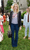Greta Gerwig joined the fun in a striped Stella McCartney tee and a black blazer.