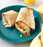 Egg, Bean, and Veggie Wrap