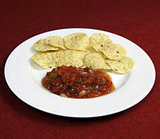 White Corn Chips With Salsa