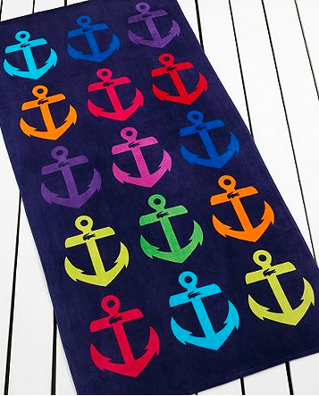 Take your anchors beachside with the Ancre Beach Towel ($25).