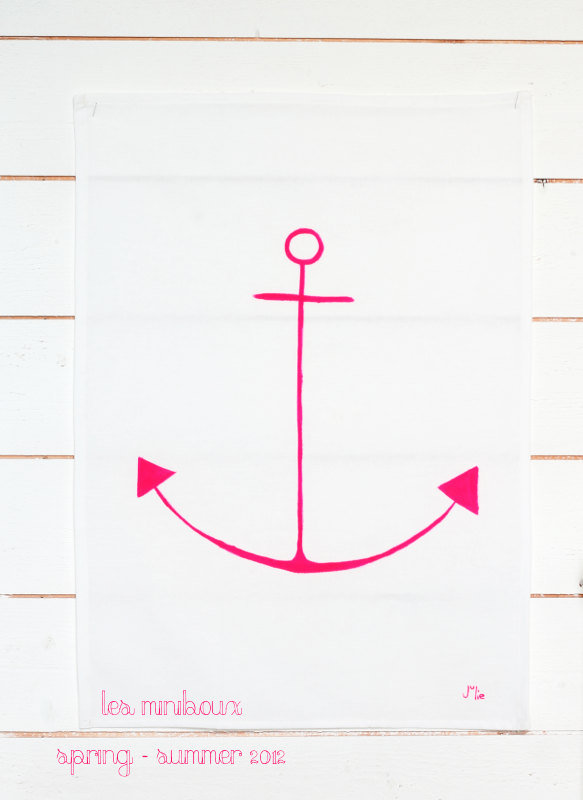 Incorporate some girlie neon with the Anchor Tea Towel ($23).