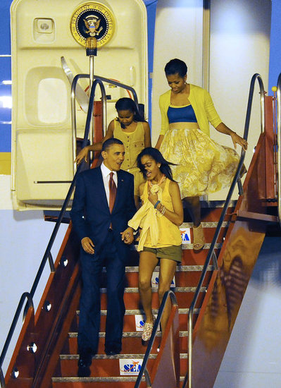 "During a 2012 interview, Obama responded to a reporter who said that ""soon the boys will come"" for Malia: ""Oh, well that's why we have Secret Service. She's getting older. It makes me tear up just thinking about it."""