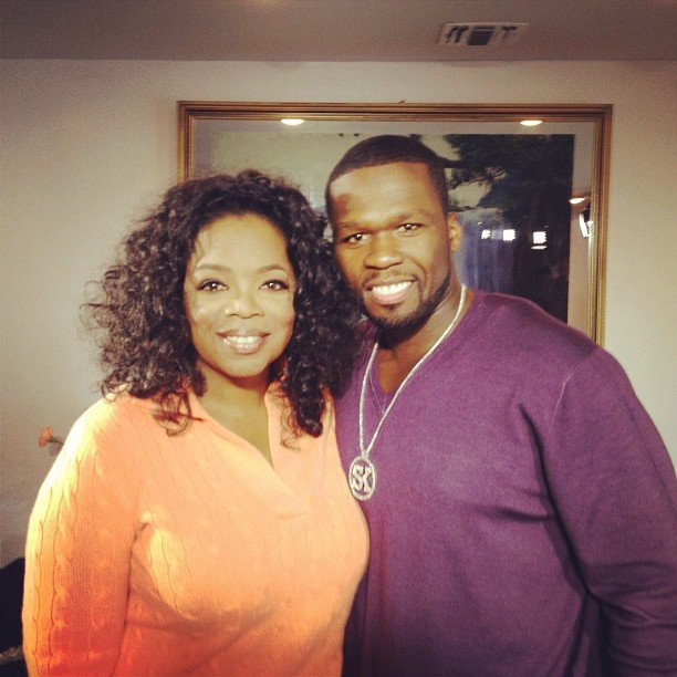 Oprah chatted with 50 Cent for an episode of her show Oprah's Next Chapter. Source: Instagram user oprahwinfrey