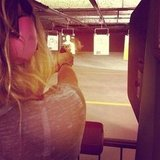 Ke$ha went to the shooting range. Source: Instagram user iiswhoiis