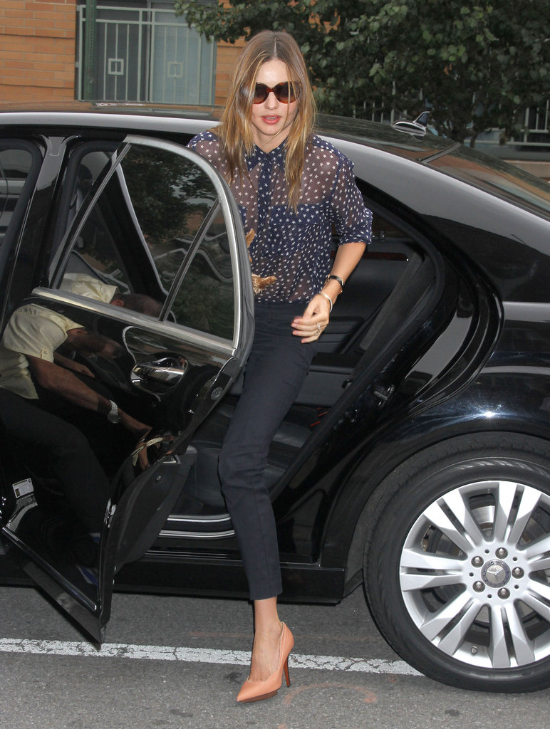 Miranda Goes Sheer For a City Day With Frankie While Orlando Rides in LA