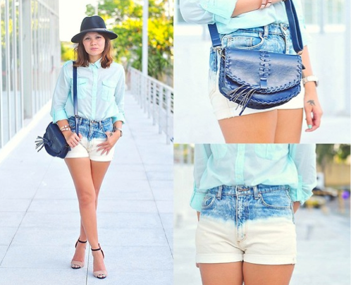 Swap out your denim shorts for a pair that feel even more seasonal with a bleached-out wash — you can even DIY your own!  Photo courtesy of Lookbook.nu