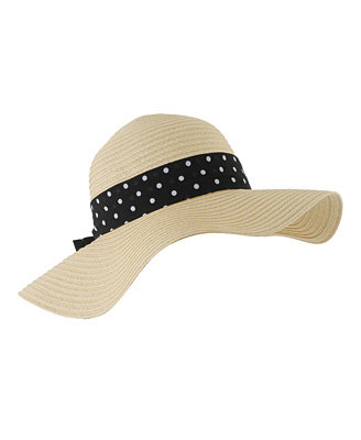 Forever 21 Polka-Dot Ribbon Floppy Hat ($13)