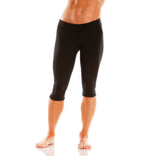 Black Cropped Workout Pants