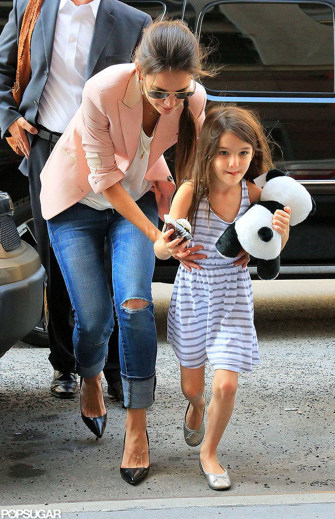 Suri Cruise and Katie Holmes headed to Jacques Torres Chocolatier.