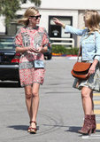 Kate Bosworth chatted with a friend.