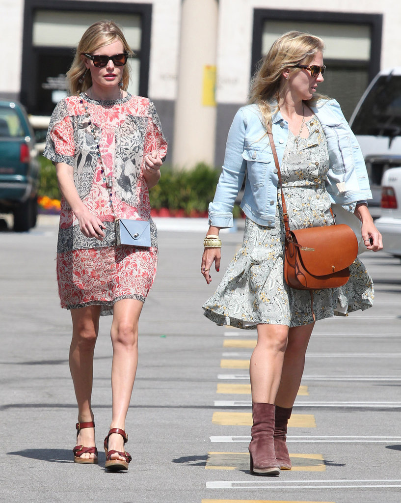 Kate Bosworth wore a summery dress with a friend.