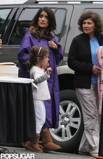 Salma Hayek and daughter Valentina Pinault were in Boston for lunch.